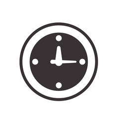 black clock symbol icon design vector image