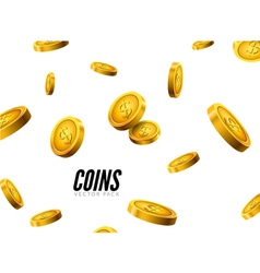 gold coins falling Coin icons realistic design vector image vector image