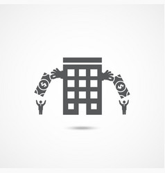 investment company icon vector image