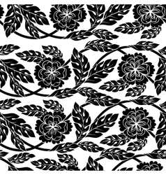 Seamless background wallpaper floral vector image vector image