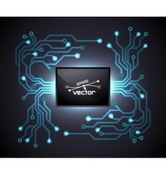 Trendy microchip vector image