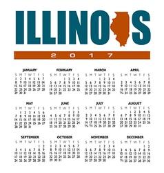 2017 Illinois calendar vector image