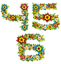 flower and bush letters 12 vector image vector image
