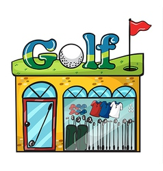 Golf accessories store vector image