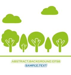 set of green tree vector image vector image