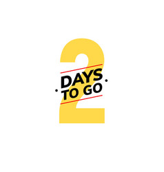 2 days to go last countdown icon two day go sale vector image
