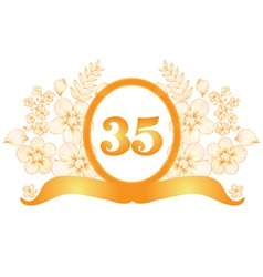 35th anniversary banner vector