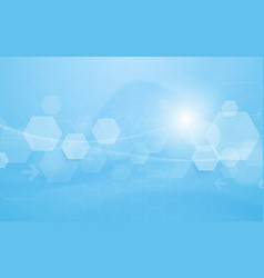 abstract technology digital hexagons concept vector image
