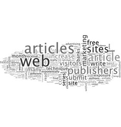 Advertise to millions write articles vector