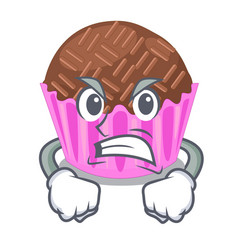 angry bragadeiro presented in the character jar vector image
