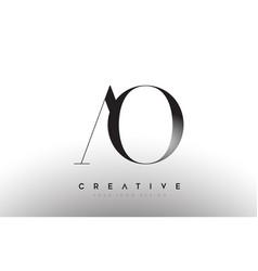 Ao letter design logo logotype icon concept vector