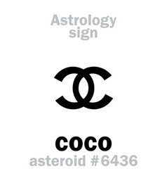 astrology asteroid coco vector image