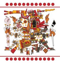 Aztec gods vector