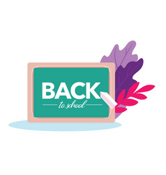 back to school banner with blackboard and chalk vector image