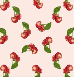 background red cherries vector image
