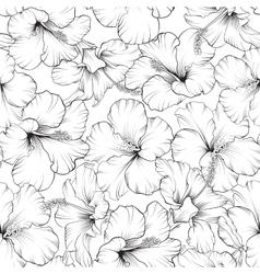 Beautiful hibiscus pattern vector image