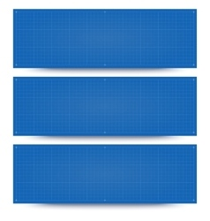 Blueprint banner backgrounds vector image
