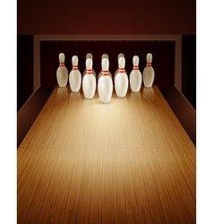 Bowling Game Realistic vector