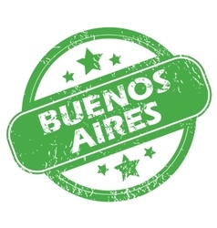 Buenos aires green stamp vector