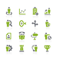 Business strategies icons natura series vector