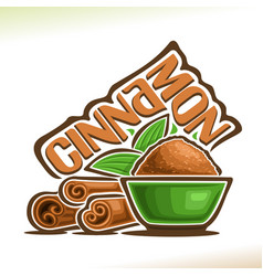 cinnamon spice vector image