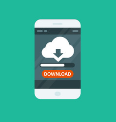 Cloud computing app - download progress bar vector