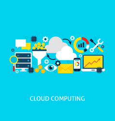 cloud computing flat concept vector image vector image