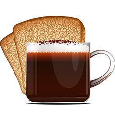 Coffee and toast vector image