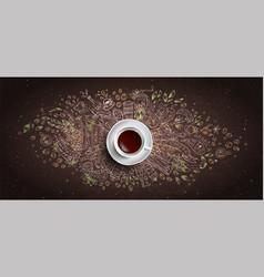 Coffee chalk concept on black board vector