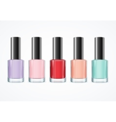 Colorful Nail Polish Bottle Set vector