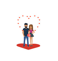 couple in love characters for the feast of saint vector image
