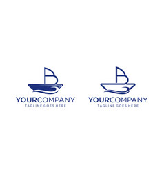 Creative boat with b letter for logo design vector