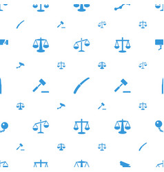 Crime icons pattern seamless white background vector