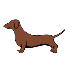 dachshund icon cartoon vector image