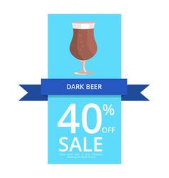 Dark beer 40 off sale vector