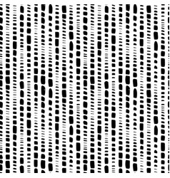 dotted lines hand drawn seamless pattern vector image