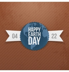Earth Day Banner with Ribbon vector image