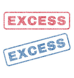 Excess textile stamps vector