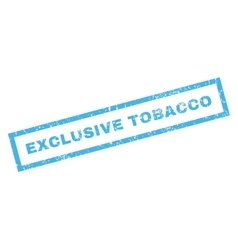 Exclusive tobacco rubber stamp vector