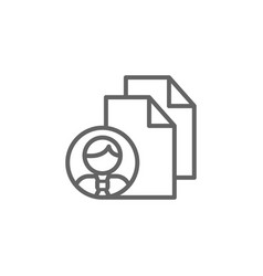 Files man outline icon elements business line vector