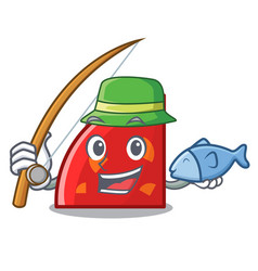 fishing quadrant mascot cartoon style vector image