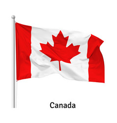 flag canada vector image