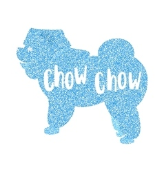 Form of round particles flat pet chow vector