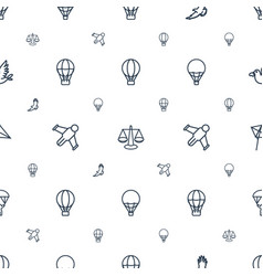 freedom icons pattern seamless white background vector image