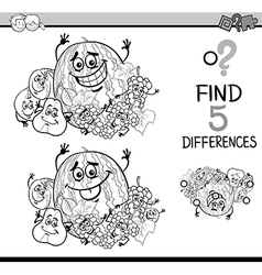 Game of differences coloring book vector