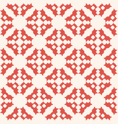 geometric floral seamless abstract red pattern vector image