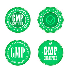Gmp good manufacturing practice industrial green vector