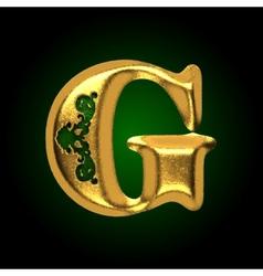 Golden letter g vector
