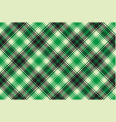 Green diagonal plaid seamless pattern vector