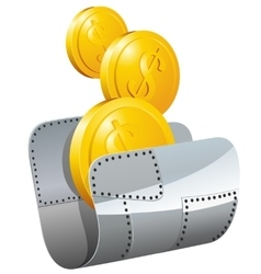 Guarded steel folder with money vector image
